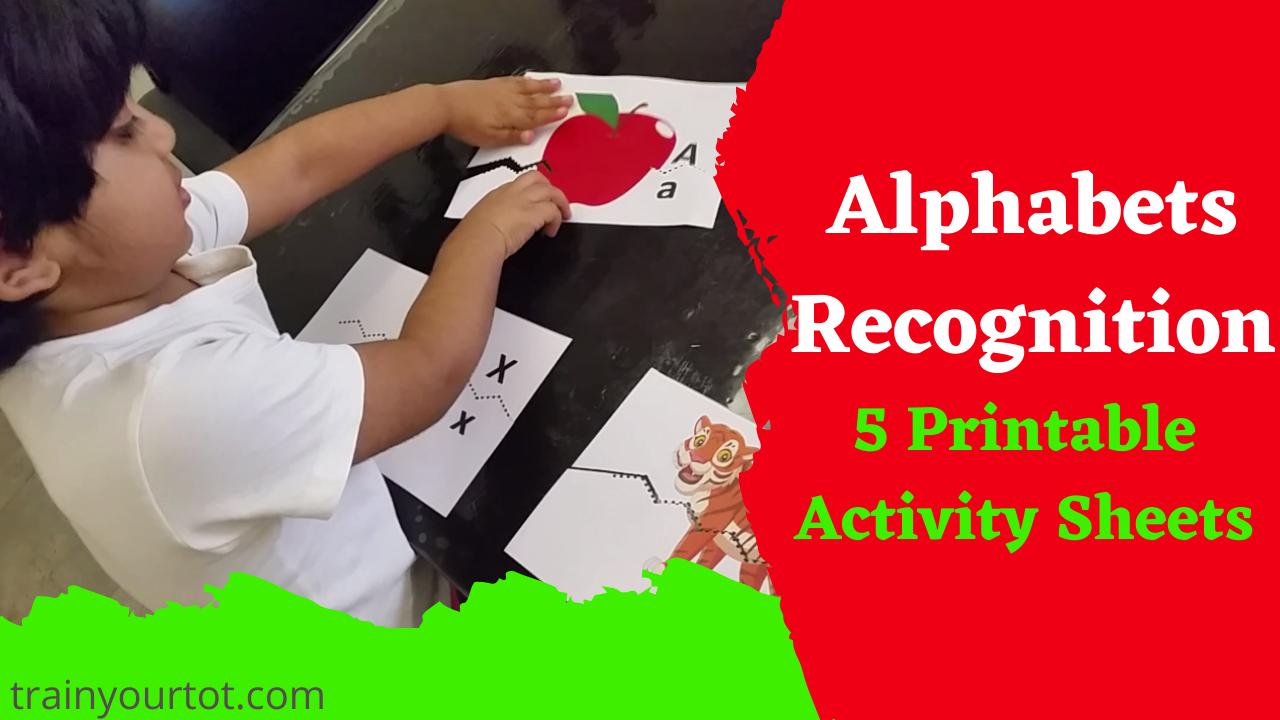 Alphabet Recognition activity sheets-trainyourtot.com