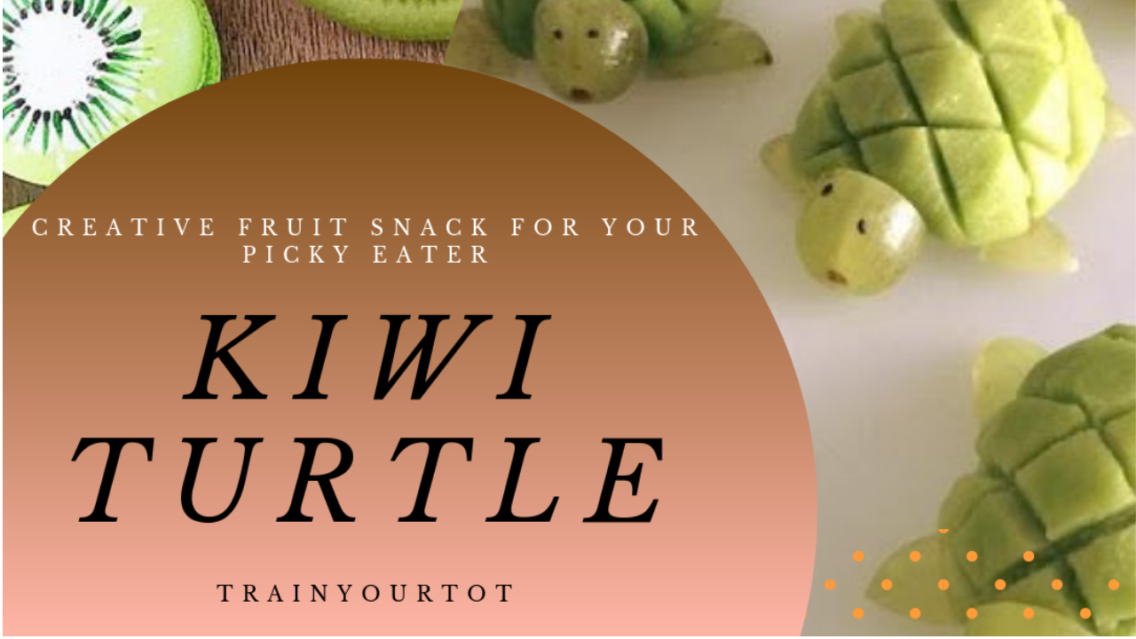 Kiwi Turtle - A creative fruit snack for your picky eater