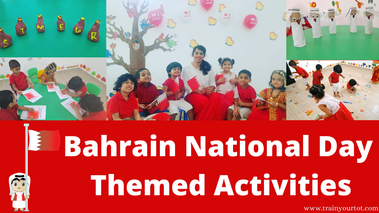 Bahrain National Day themed activity sheets