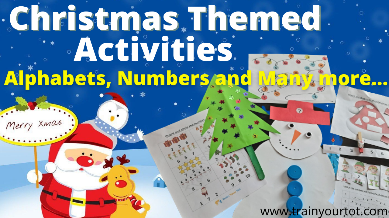 Christmas Themed Activities and Worksheets for Children -Train Your Tot